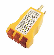 Receptacle Tester Plug Ground Outlet Electrical AC New