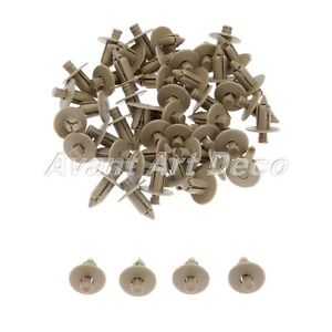 50x Auto Plastic Clips Fasteners Rivets Fit For Volvo V70 2007 2006 2005 2004