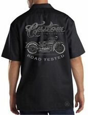 CUSTOM MOTORCYCLES Road Tested Mechanics DICKIES Work Shirt ~ Biker Vintage