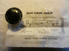 MRC  -  N SCALE -  CONTROL RHEOSTAT WITH KNOB AND SPEED DIAL  # T-40N & AT400
