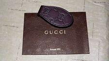 NEW & RARE! $250 GUCCI GG Dark Brown Leather Money Clip Wallet Cash Holder Polo