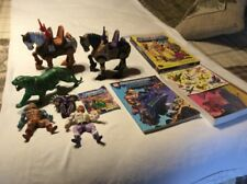 Vintage Lot HE MAN Masters Of The Universe Figures Colorforms Color Book
