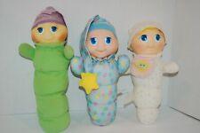 New listing Vintage Glow Worm Light Up Doll Lot 3 Playskool Stuffed Animal Bedtime Musical