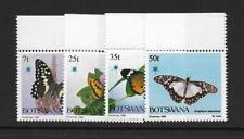 1984 Botswana Butterflies SG568-571 Unmounted Mint