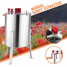 "4/8 Frame Manual Honey Extractor Beekeeping Equipment Stand 24"" Drum Honeycomb"