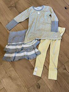 3 piece SET - Girl's Naartjie Tunic Swing Top, Skirt, & Legging SET Sz 6 7