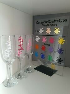 Personalised Name Wine Glass Vinyl Stickers, Wedding, Personlised Gifts,