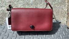 Coach 1941 Red Dinky Leather Crossbody, Clutch, EXC!! Rt $295!!