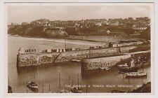 Cornwall postcard - The Harbour & Towan Beach, Newquay - RP