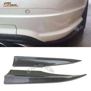 For BENZ W204 C350 C63 AMG 12-14 Real Carbon Fiber Rear Bumper Splitter Skirt