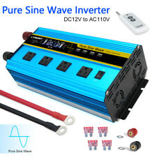 2500W 5000W pure sine wave power inverter 12V to 110V 120V Converter 4Usb remote