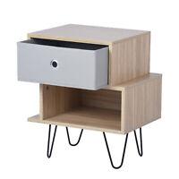 Table de chevet avec 2 étagère un tiroir