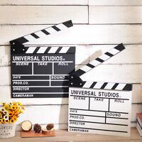 Movie Video Film Scene Director Wooden Clapper Board Clapboard Props Decor