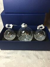 Swarovski 2015 CHRISTMAS BALL ORNAMENT SET (3 Ornaments) *NEW* 5136414 X-MAS