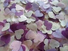 4000 Lilac/Pink /Purple/ White/ Cream Tissue Hearts/Wedding Confetti Decoration
