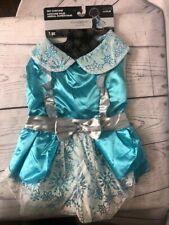 Celebrate It Dog Costume Size Large Blue Silver Princess Dress Tulle Hook Loop