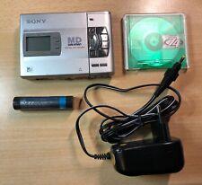 Sony Minidisc MD Walkman Recorder MZ-R50 + SONY LIP-8 AKKU (SEHR SELTEN!)