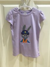 Girls Childrens Shirt Zootopia Judy Hopps Embroidered Size 6