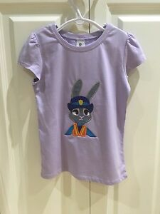 Zootopia Girls Shirt Judy Hopps Embroidered Size 6