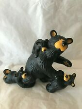 "Bearfoots Bears By Montana Artist Jeff Fleming Big Sky Carvers ""Daddy's Home"""