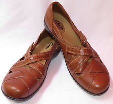 WOMEN'S CLARKS 'BENDABLES' BROWN CLOGS SIZE 10 W