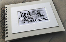 Personalised luxury scrapbook photo album Grandads birthday christmas gift