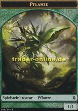 2x Spielstein - Pflanze (Token - Plant) Battle for Zendikar Magic