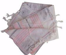 """Prayer Shawl Talit  18"""" X 73"""" Made in Holly Land Pink/Silver Kosher Tallit !!!"""