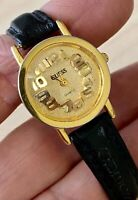 Guess Watch Raised 3-D Numerals Gold Plated Face, Dial, Numbers Runs Early 1990s