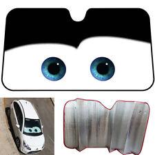 b9cec8dff6c3 Big Eyes Car Black Aluminium Foil Windshield Sun Shade Front Window Visor  Cover
