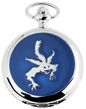 Taschenuhr Weiß Silber Blau Monster Analog Quarz Herrenuhr D-480822000019500