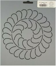 """Quilting Stencil Feather Circle Scallop Swirl Quilt Block 6"""" Wreath Templates"""