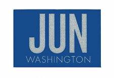 WASHINGTON License Plate 'JUN' MONTH Registration Sticker Tab-Blue w/Reflective