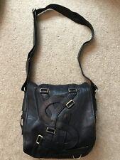 Yves Saint Laurent Vavin Black Leather Shoulder Messenger Bag YSL buckle straps