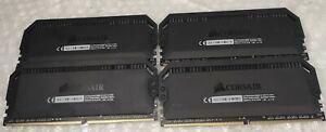 32GB 4x8GB Corsair CMT32GX4M4C3200C16 Dominator RGB PC4-25600 DDR4-3200Mhz Ram