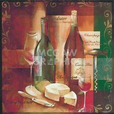 WINE ART PRINT To Your Health by Verbeek & Van den Broek Winery Bar Poster 18x18