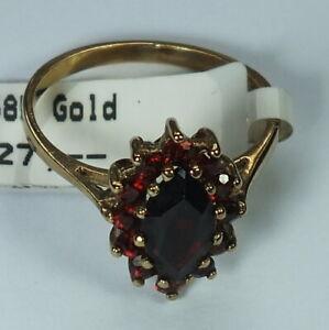 Granat  Damenring  .585 Gold       Gr. 55  #  B 1140