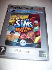 PS2 GAME THE SIMS BUSTIN' OUT