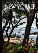 """THE NEW YORKER MAGAZINE JULY 31 2017 COVER JAVIER MARISCAL """"PRIVATE BEACH"""""""