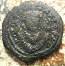 VF! Tiberius II Constantine. Nicomedia Dated GI/I  so 581/2 AD. Æ Follis