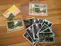 Lot Vintage Watkins Glen New York Postcards photo books Foldout Souvenir RARE