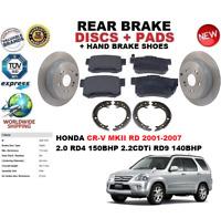 Per Honda Crv II Rd 2.0 2.2 2001-2007 Disco Freno Posteriore Set +Pad+ Da Set