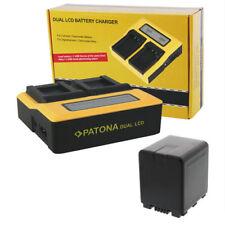 PATONA Dual Ladegerät mit 1x Akku für Panasonic VW-VBN260 2100mAh ACCU Li-ion