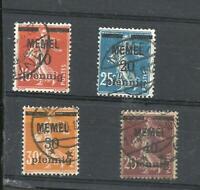 GERMANY MEMEL, MICHEL # 19-20-21-22, DONNE V. LANGE BALKEN, USED