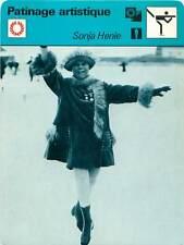 FICHE CARD: Sonja Henie NORWAY NORVÈGE Patinage artistique Figure skating 1970s