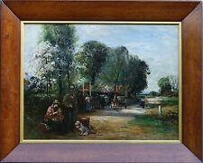 JOHN ROBERTSON REID THE BELL INN IMPRESSIONIST 19TH C OIL PAINTING ART 1851-1926