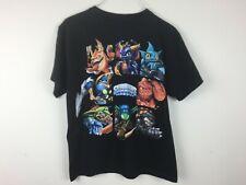 Skylanders Spyro's Adventure Characters Black Tee T-Shirt Size Youth Large