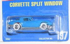 HOT WHEELS 1991 BLUE CARD  CORVETTE SPLIT WINDOW #197 MIB