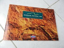 Nissan Patrol GR 1998 sales brochure catalogue commercial sales prospectus