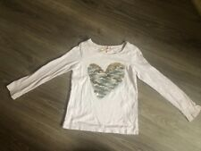 Girls Next Age 6 Long Sleeved Top Pink Sequin Autumn Winter Casual